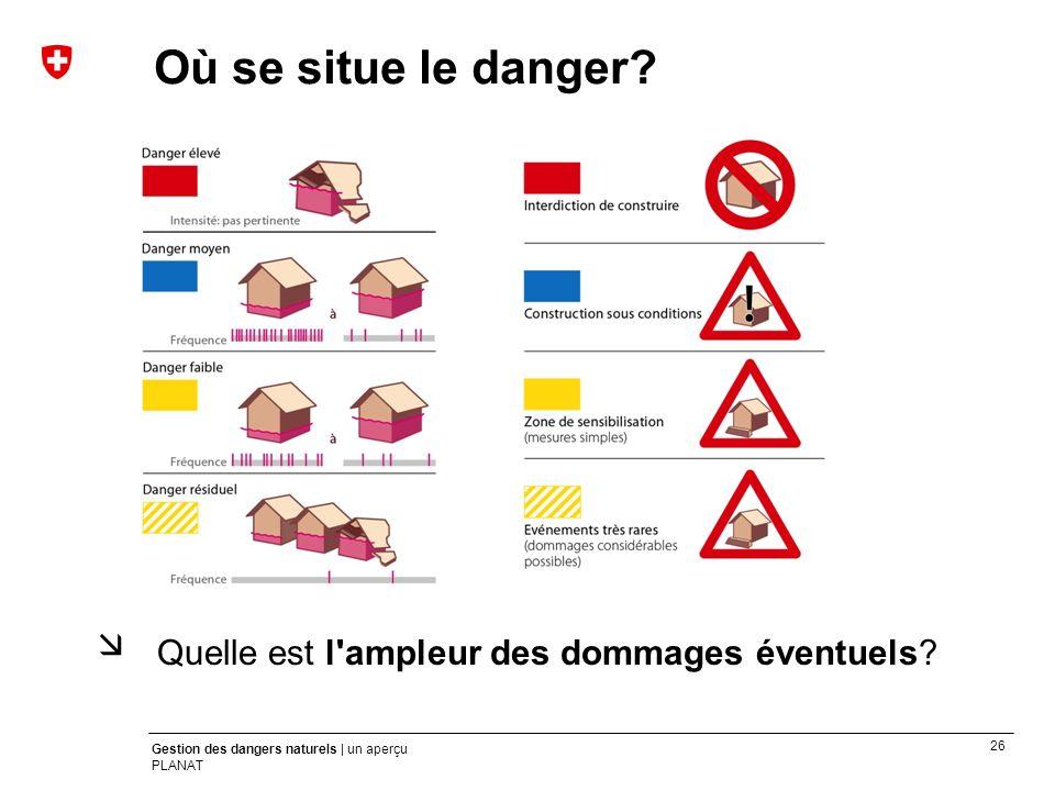 Où se situe le danger Quelle est l ampleur des dommages éventuels