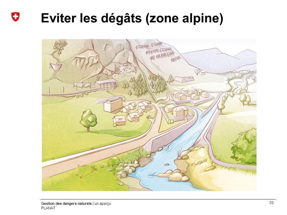 Eviter les dégâts (zone alpine)