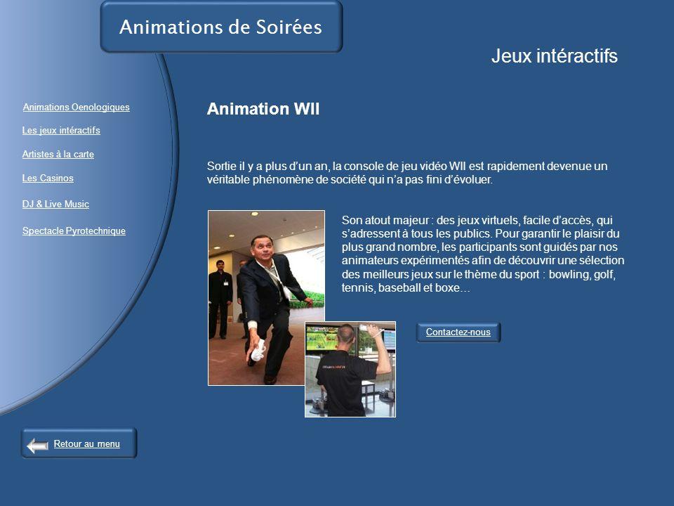 Animations de Soirées Jeux intéractifs Animation WII