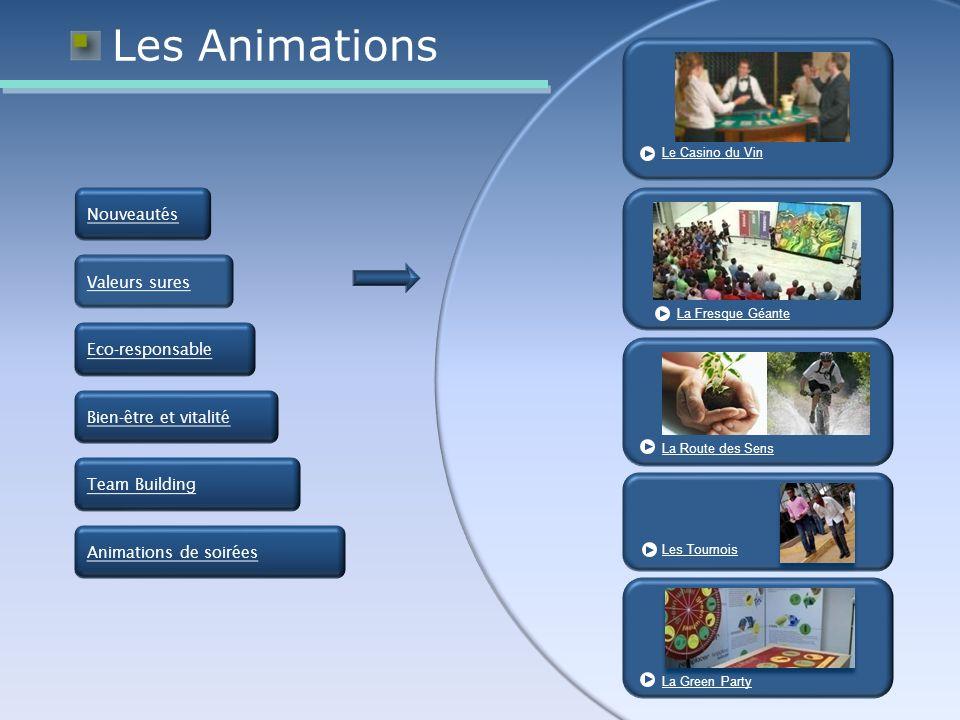 Les Animations Nouveautés Valeurs sures Eco-responsable