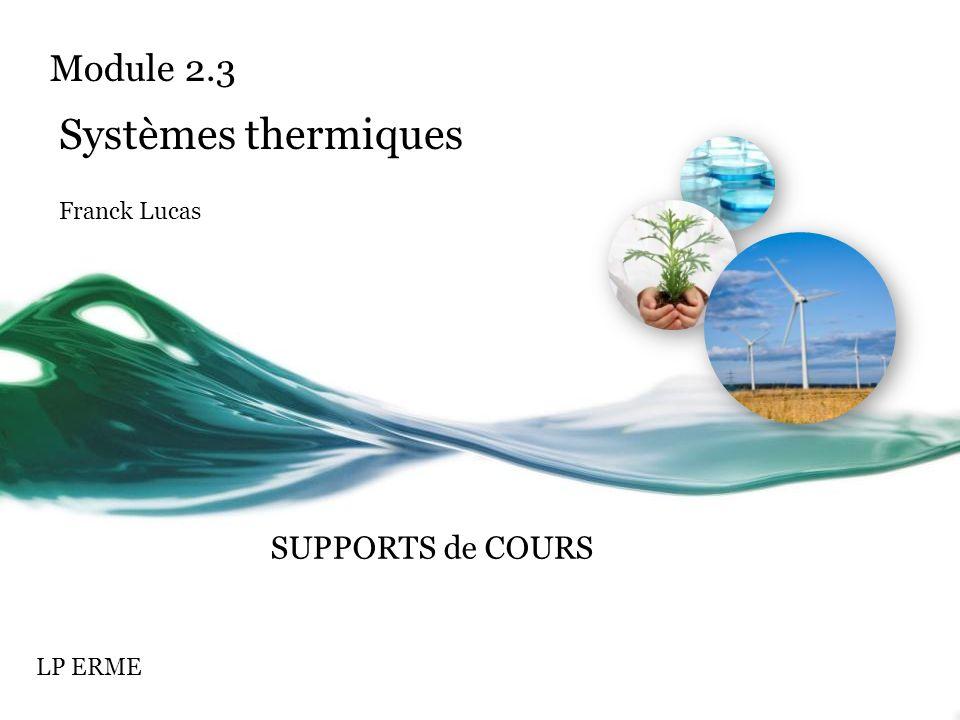 Systèmes thermiques Franck Lucas