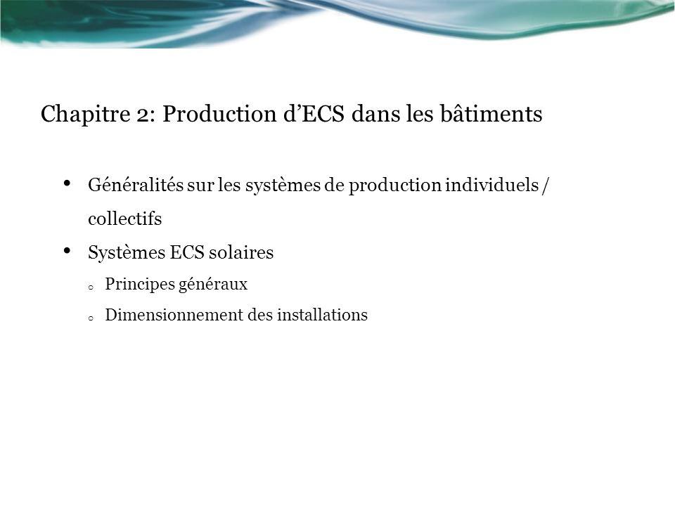 Chapitre 2: Production d'ECS dans les bâtiments