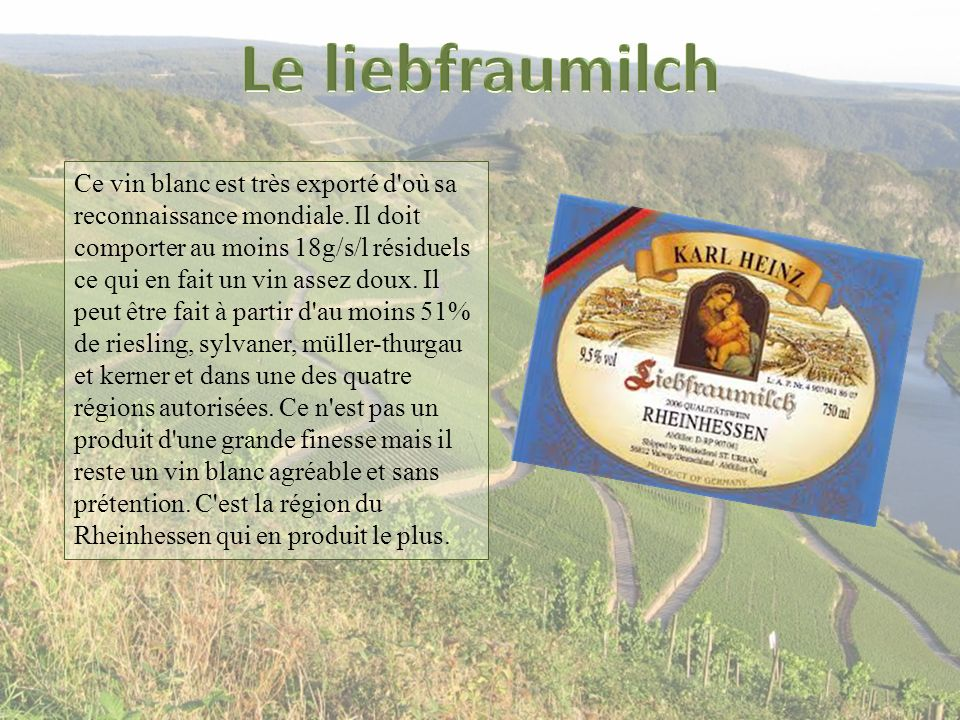 Le liebfraumilch