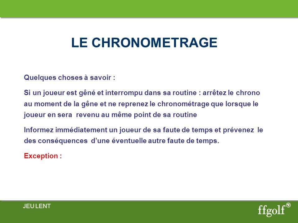 LE CHRONOMETRAGE