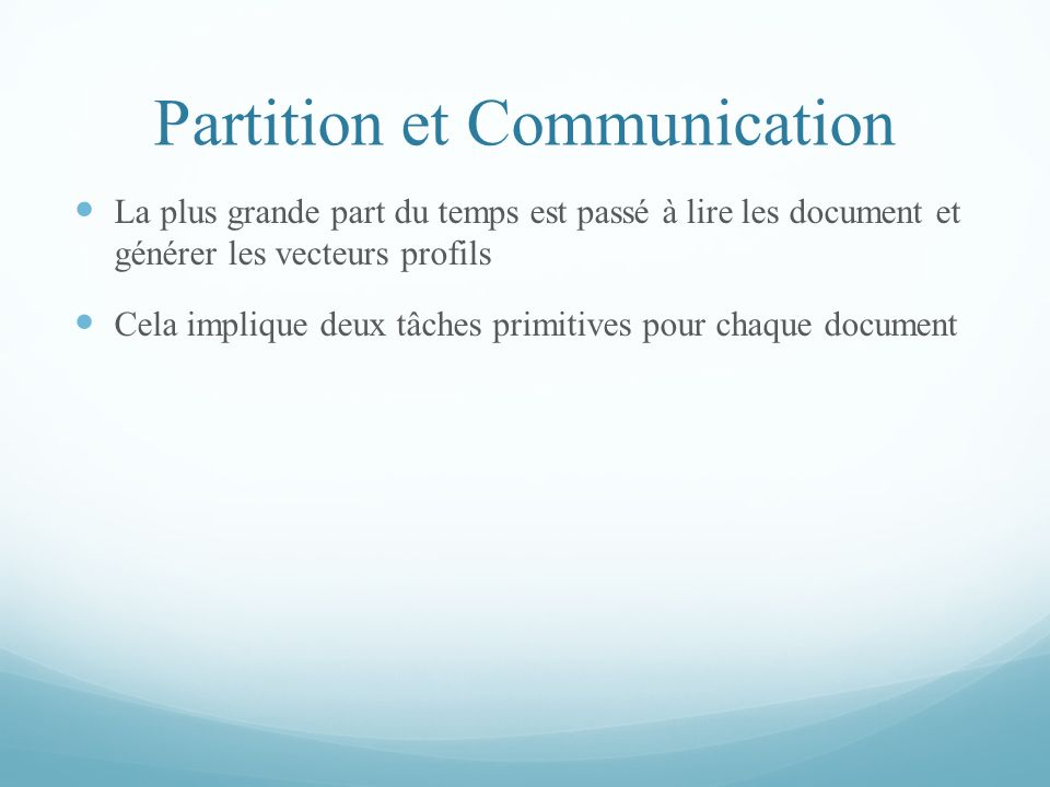 Partition et Communication