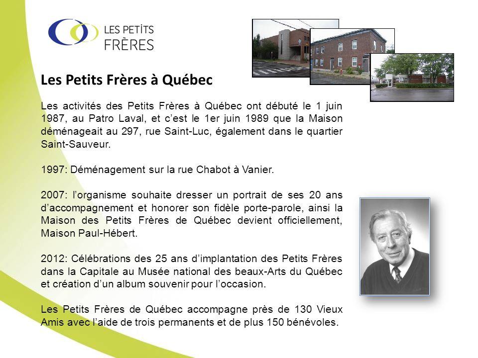 Les Petits Frères à Québec