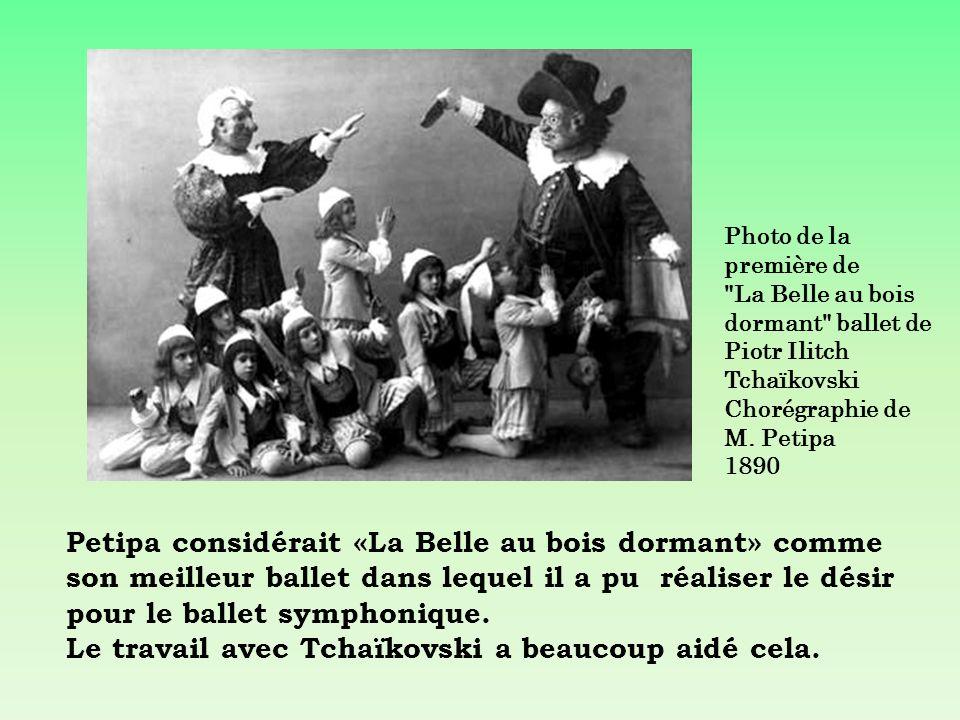 Photo de la première de La Belle au bois dormant ballet de Piotr Ilitch Tchaïkovski Chorégraphie de M. Petipa 1890