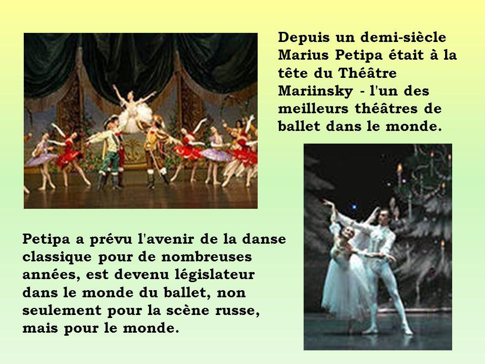 Depuis un demi-siècle Marius Petipa était à la tête du Théâtre Mariinsky - l un des meilleurs théâtres de ballet dans le monde.