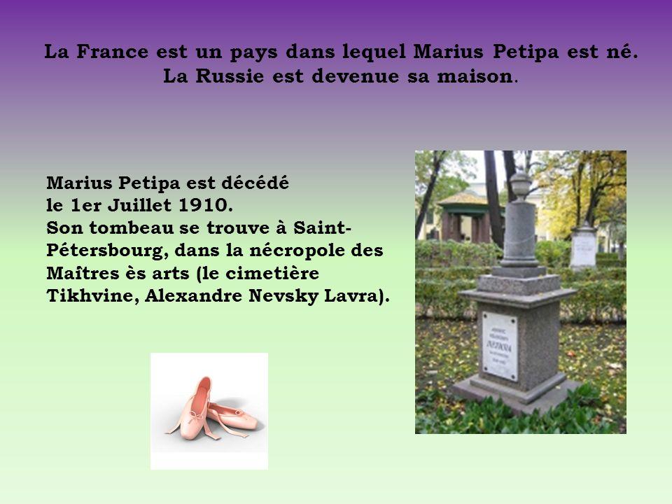 La France est un pays dans lequel Marius Petipa est né.