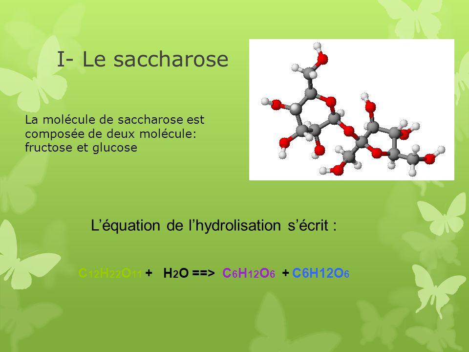 L'équation de l'hydrolisation s'écrit :