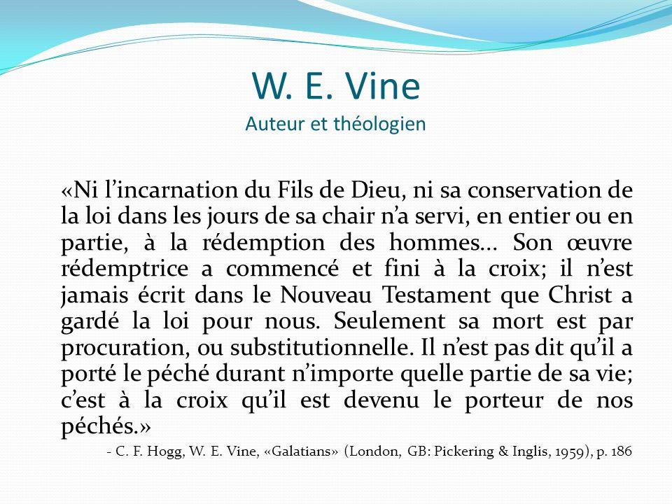 W. E. Vine Auteur et théologien
