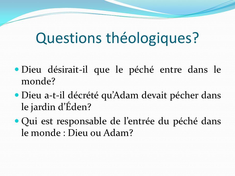 Questions théologiques