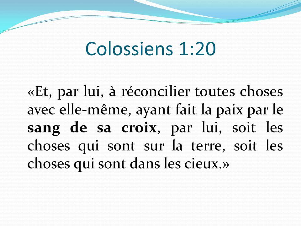 Colossiens 1:20