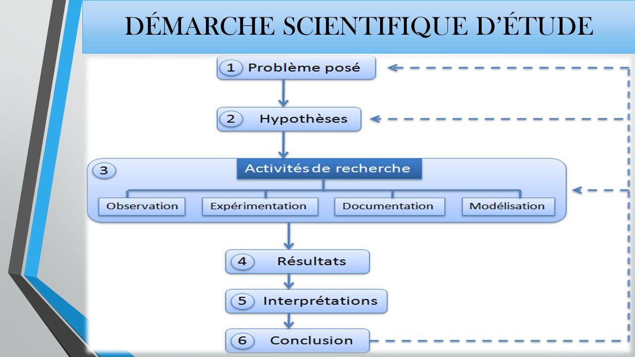démarche scientifique d'étude