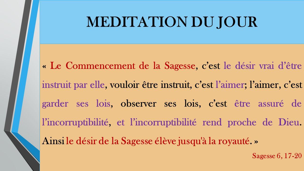 MEDITATION DU JOUR