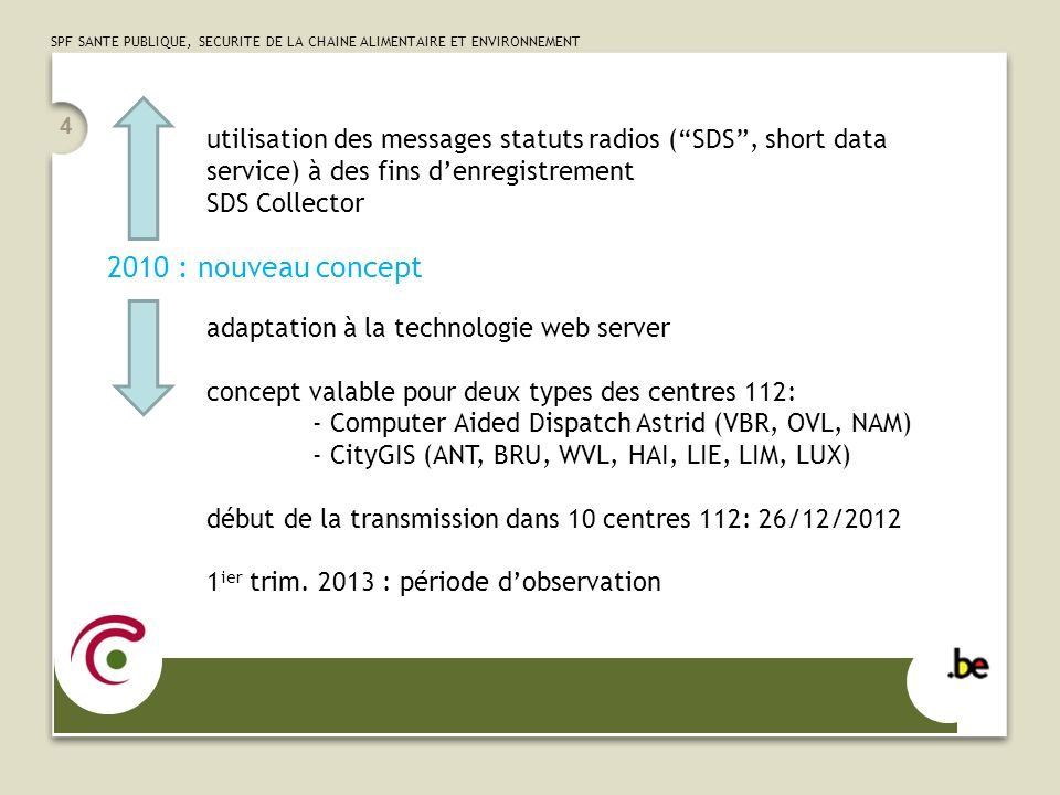 utilisation des messages statuts radios ( SDS , short data service) à des fins d'enregistrement SDS Collector