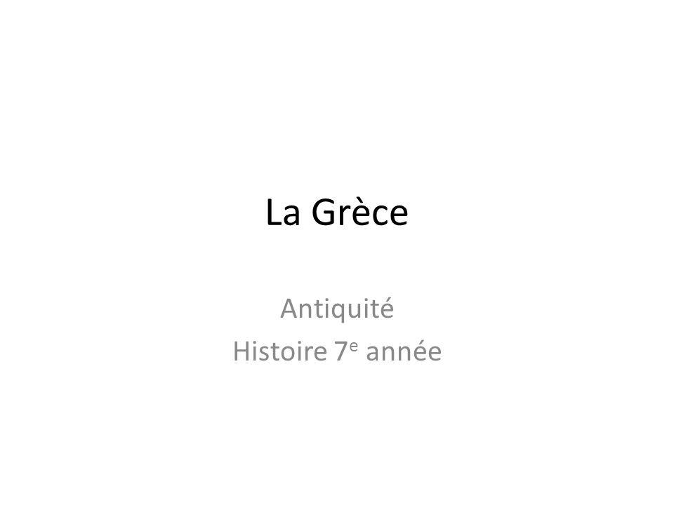 Antiquité Histoire 7e année