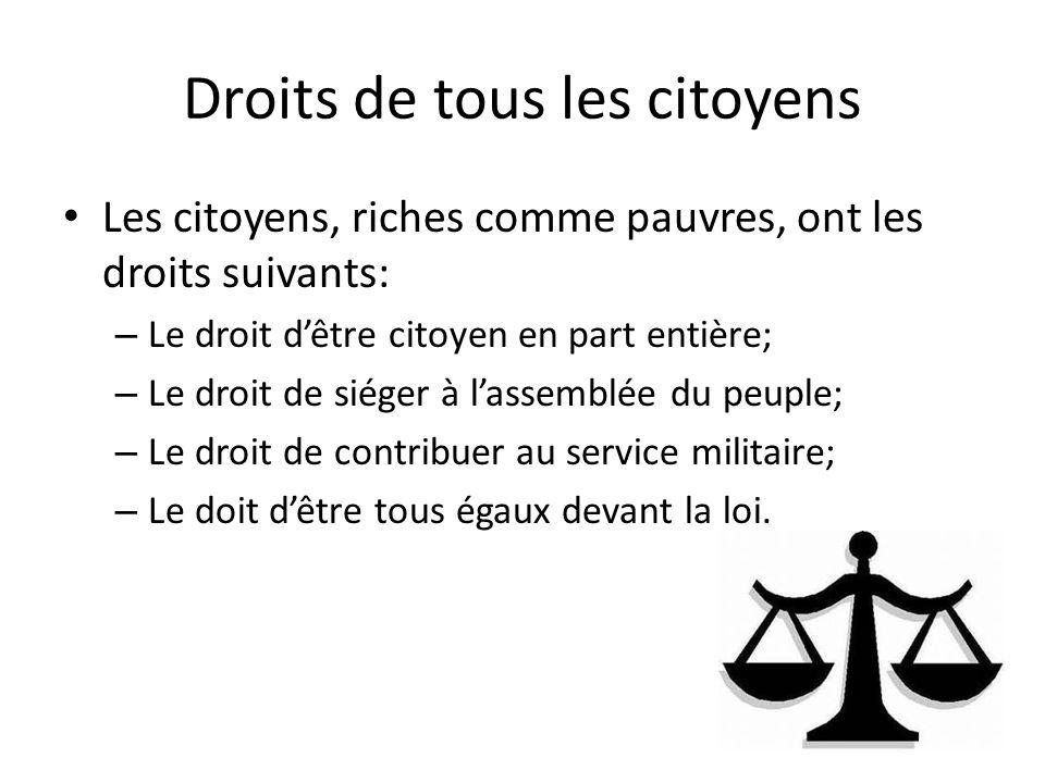 Droits de tous les citoyens