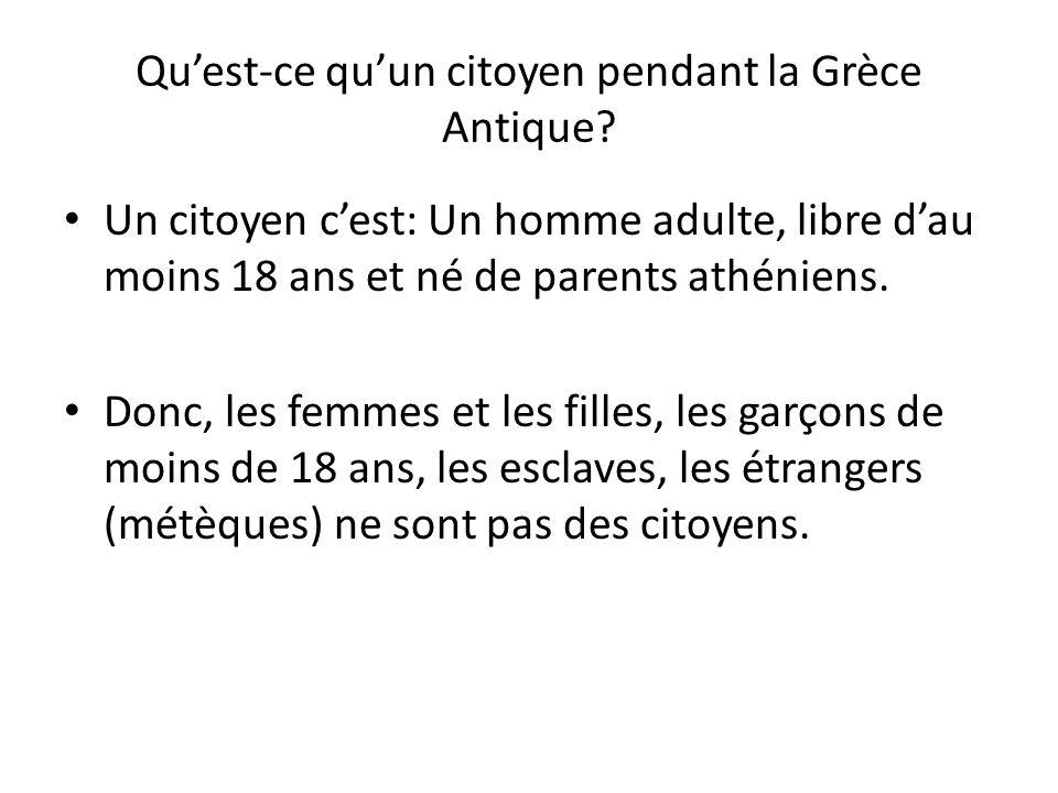 Qu'est-ce qu'un citoyen pendant la Grèce Antique