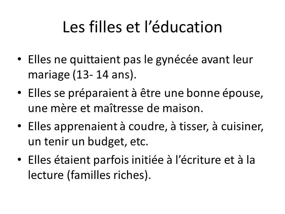 Les filles et l'éducation