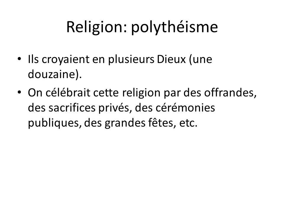 Religion: polythéisme
