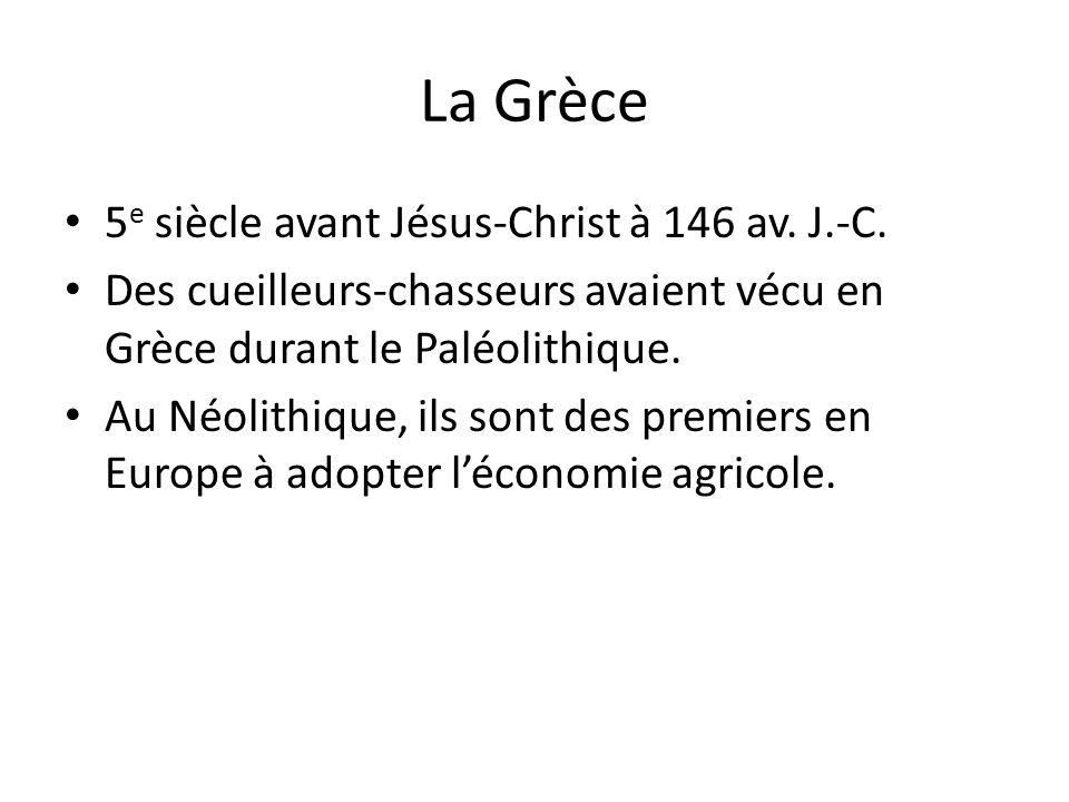 La Grèce 5e siècle avant Jésus-Christ à 146 av. J.-C.
