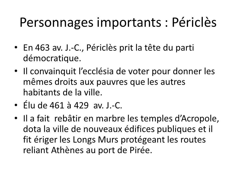 Personnages importants : Périclès
