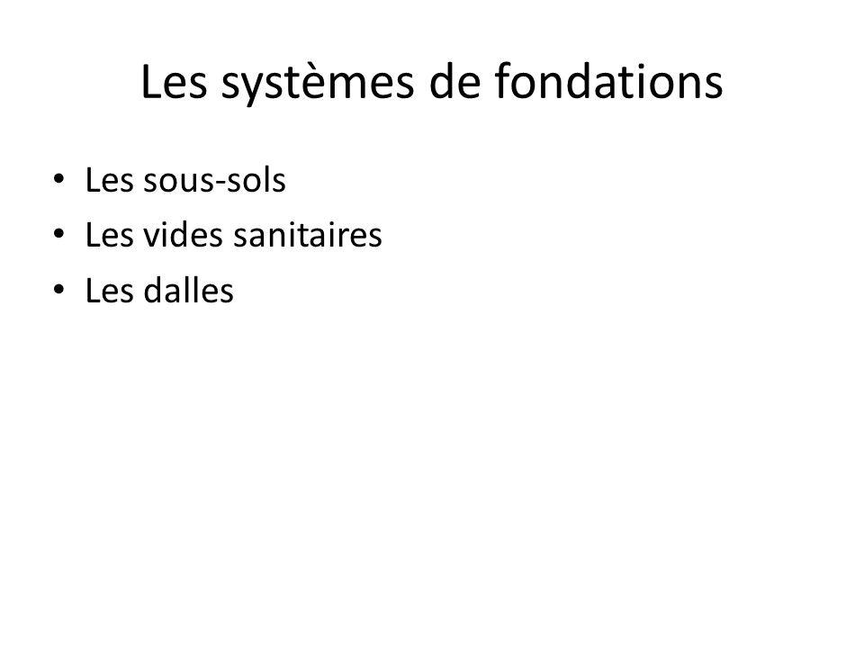 Les systèmes de fondations