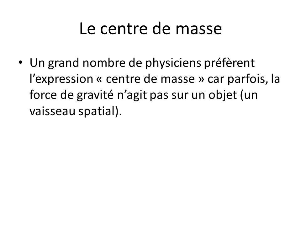 Le centre de masse