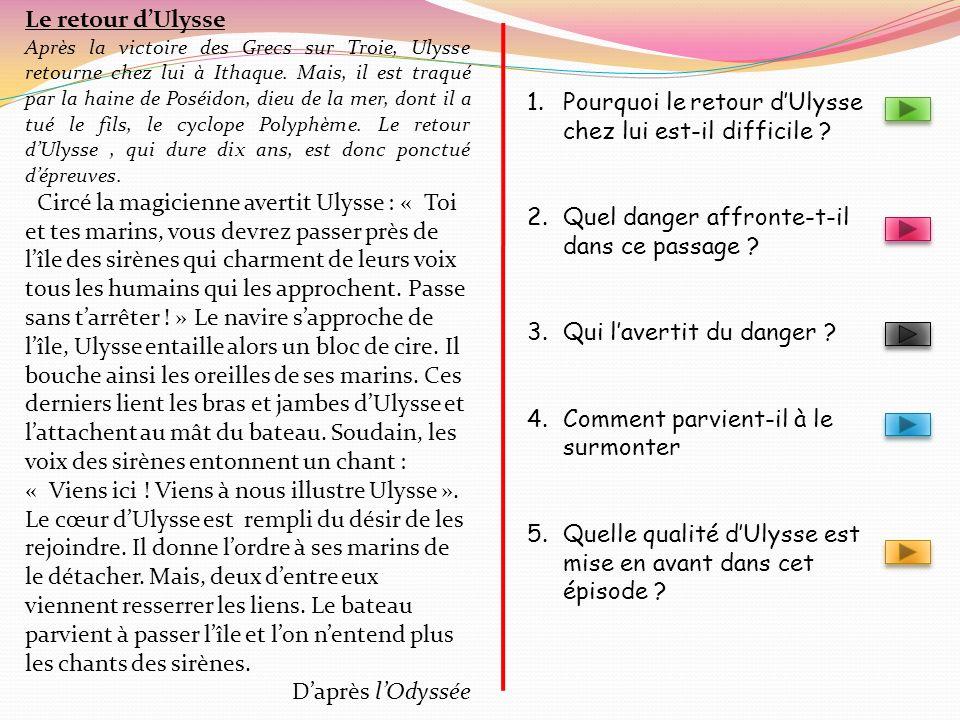 Pourquoi le retour d'Ulysse chez lui est-il difficile