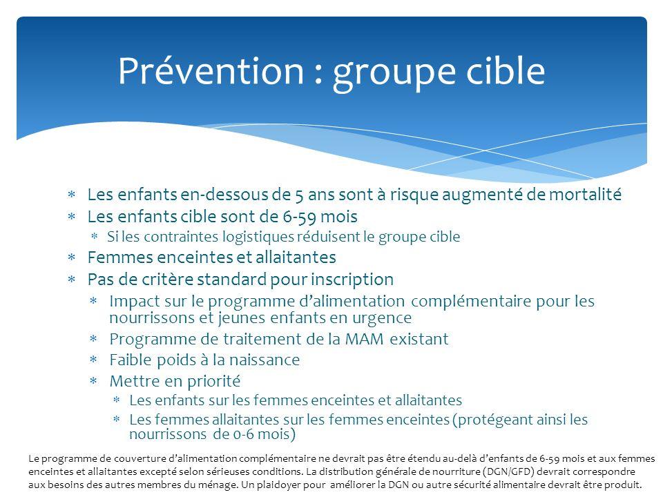 Prévention : groupe cible