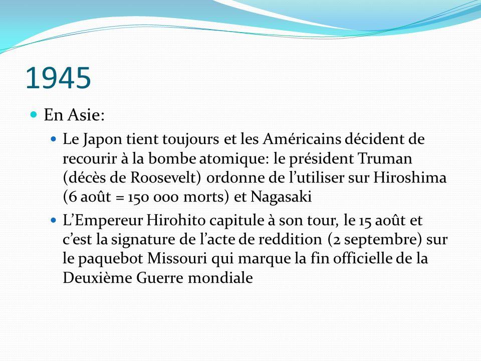 1945 En Asie: