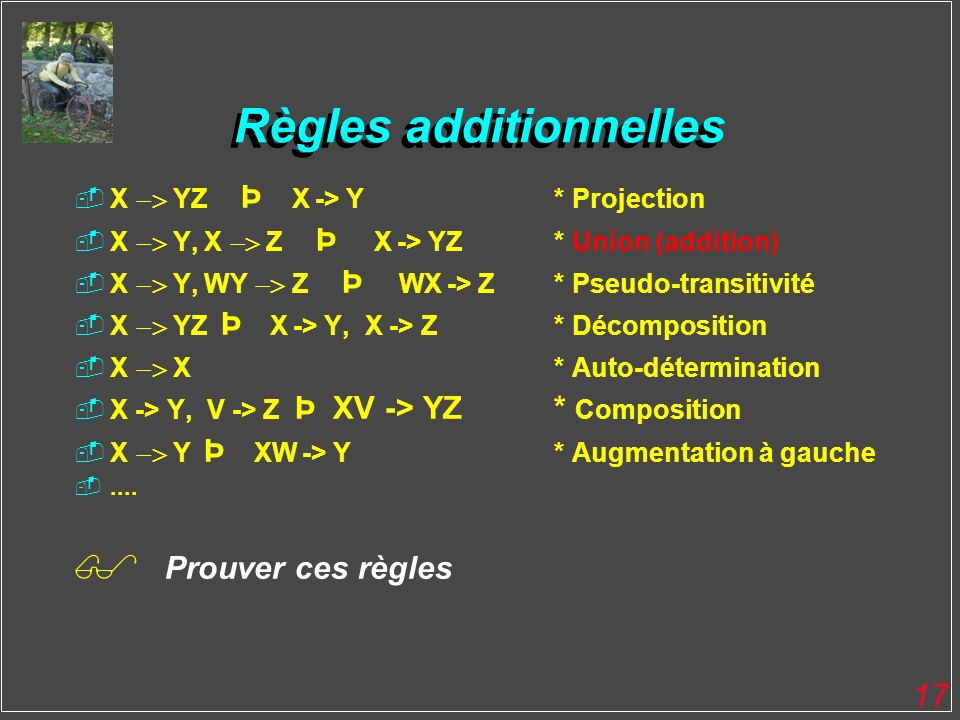 Règles additionnelles