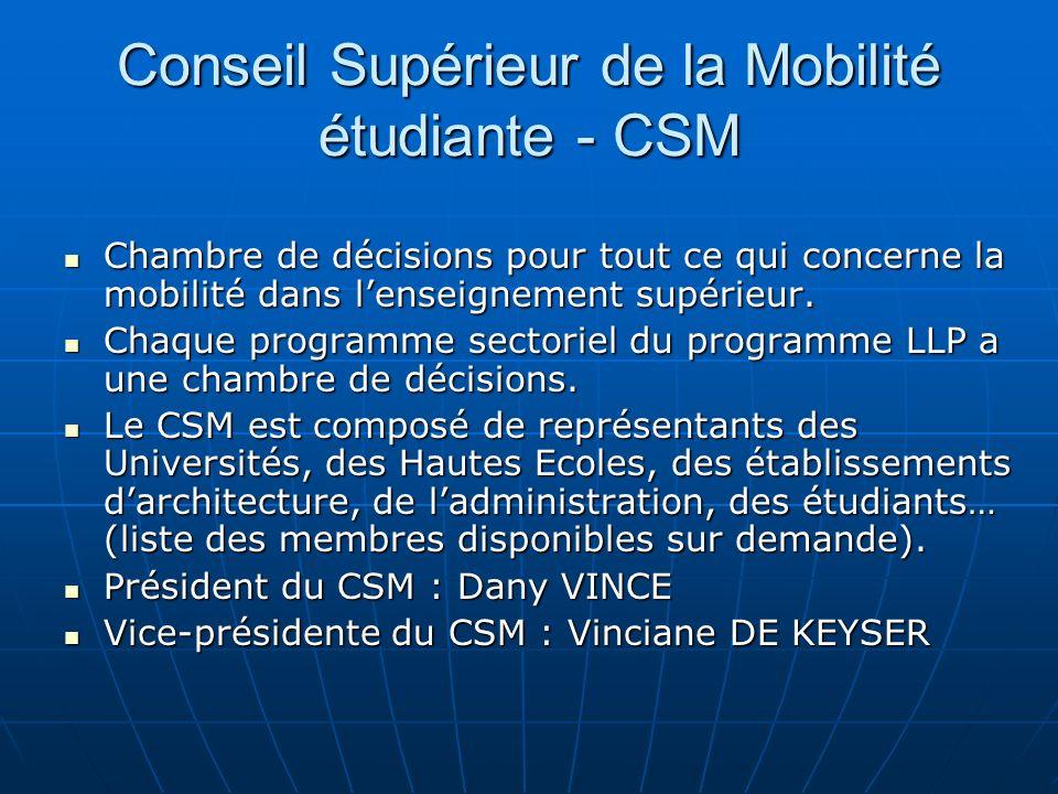 Conseil Supérieur de la Mobilité étudiante - CSM