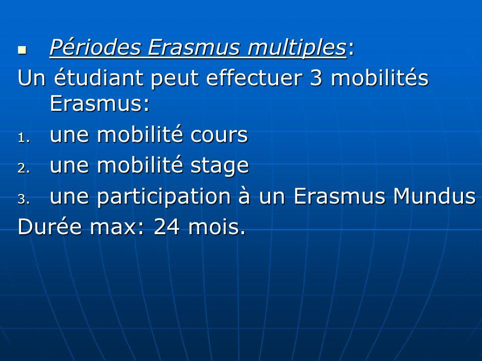 Périodes Erasmus multiples: