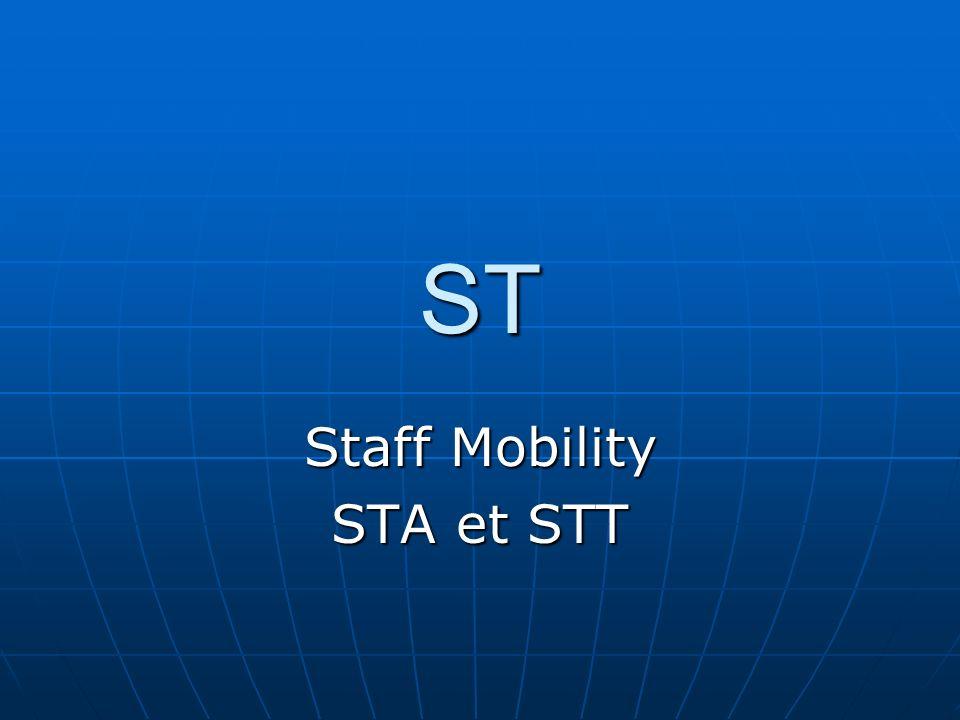 Staff Mobility STA et STT