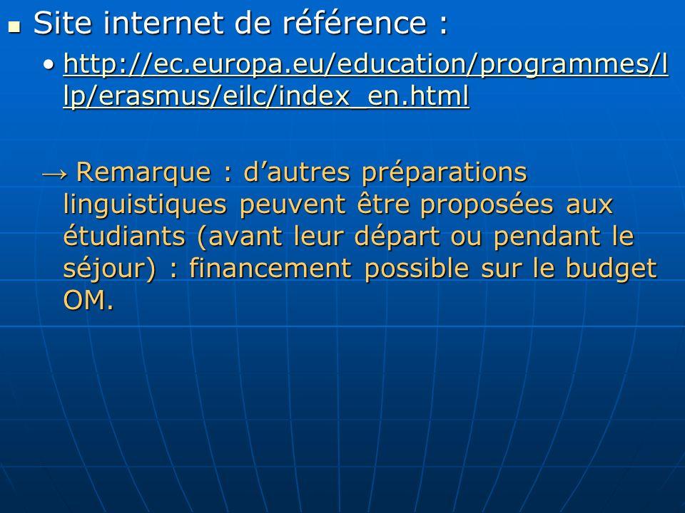 Site internet de référence :