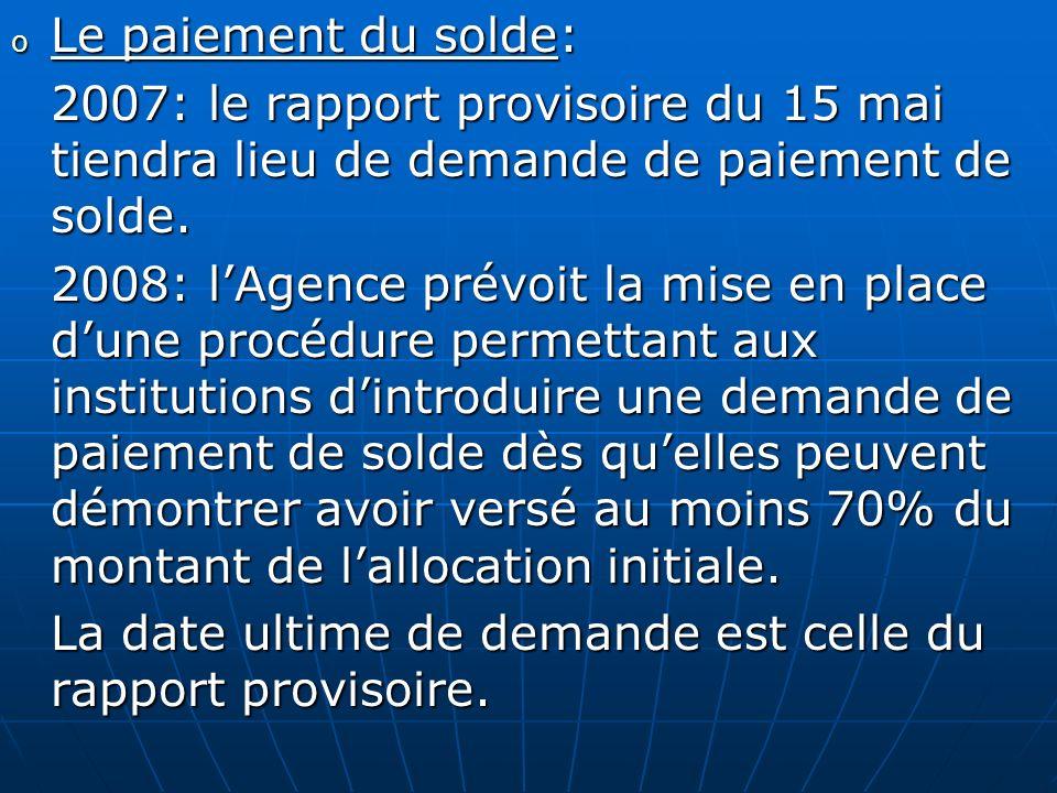 La date ultime de demande est celle du rapport provisoire.