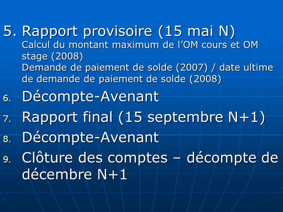 Rapport final (15 septembre N+1)