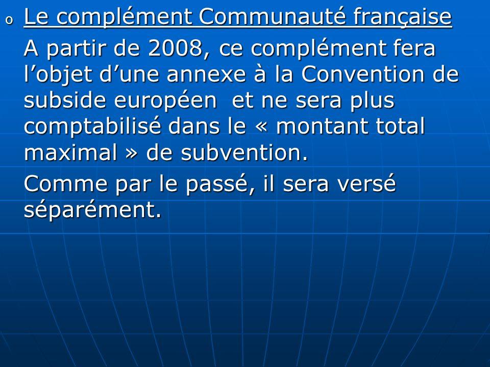 Le complément Communauté française