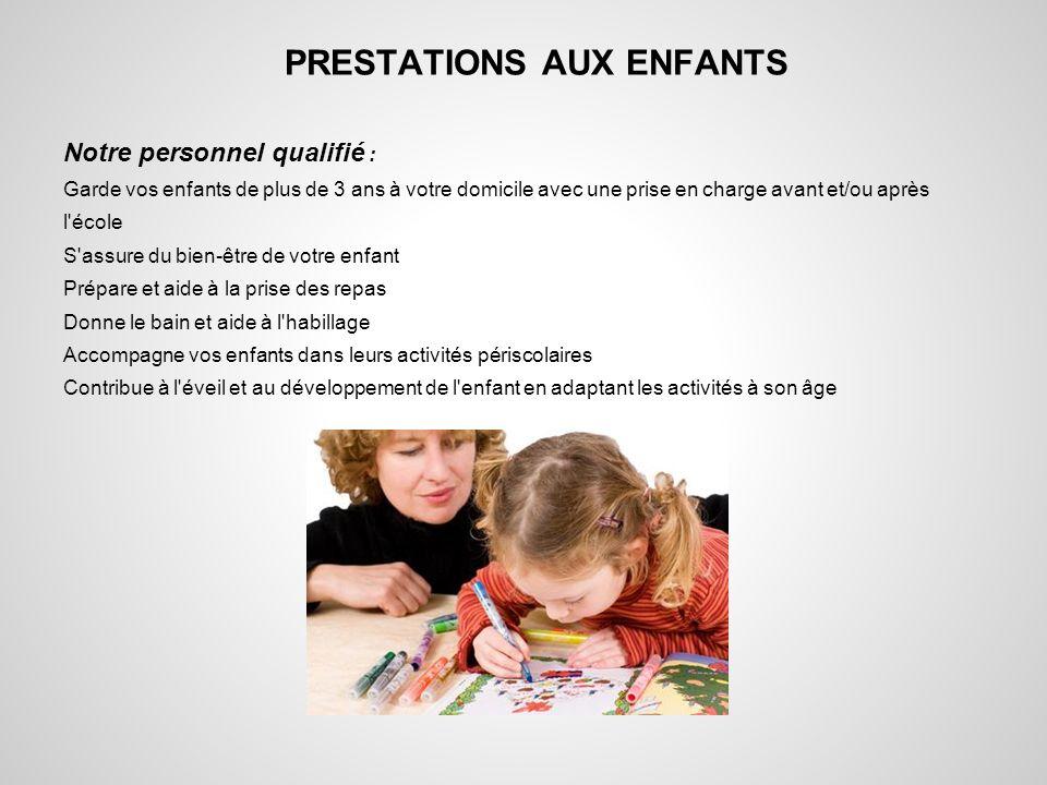 PRESTATIONS AUX ENFANTS