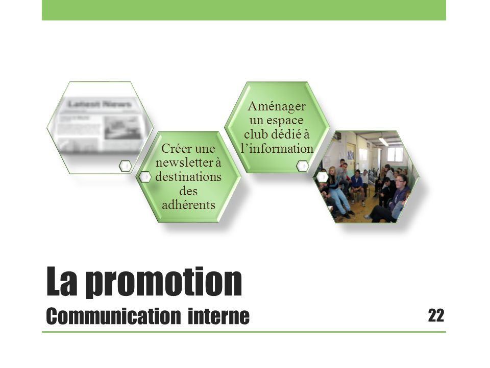 La promotion Communication interne