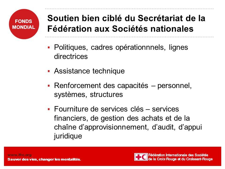 Soutien bien ciblé du Secrétariat de la Fédération aux Sociétés nationales