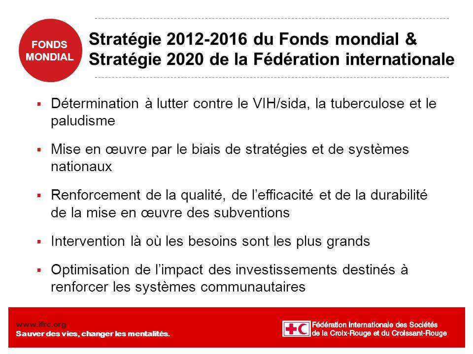 Stratégie 2012-2016 du Fonds mondial & Stratégie 2020 de la Fédération internationale