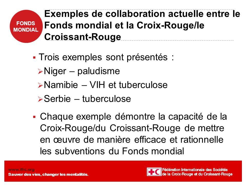 Trois exemples sont présentés : Niger – paludisme