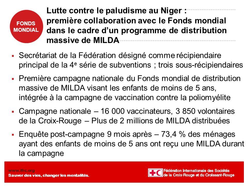 Lutte contre le paludisme au Niger : première collaboration avec le Fonds mondial dans le cadre d'un programme de distribution massive de MILDA
