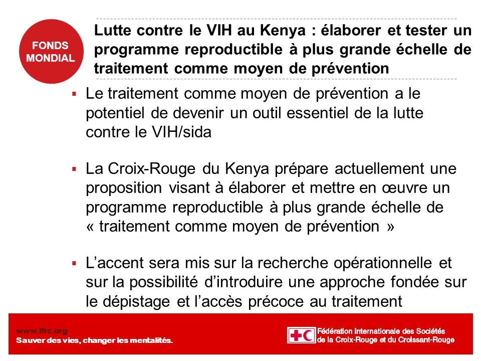 Lutte contre le VIH au Kenya : élaborer et tester un programme reproductible à plus grande échelle de traitement comme moyen de prévention