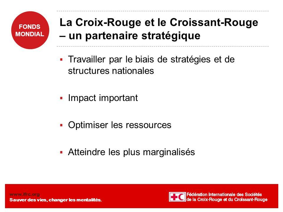 La Croix-Rouge et le Croissant-Rouge – un partenaire stratégique