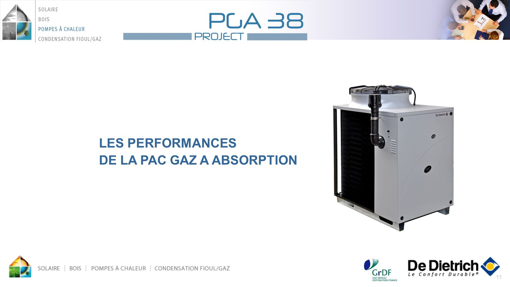 LES PERFORMANCES DE LA PAC GAZ A ABSORPTION