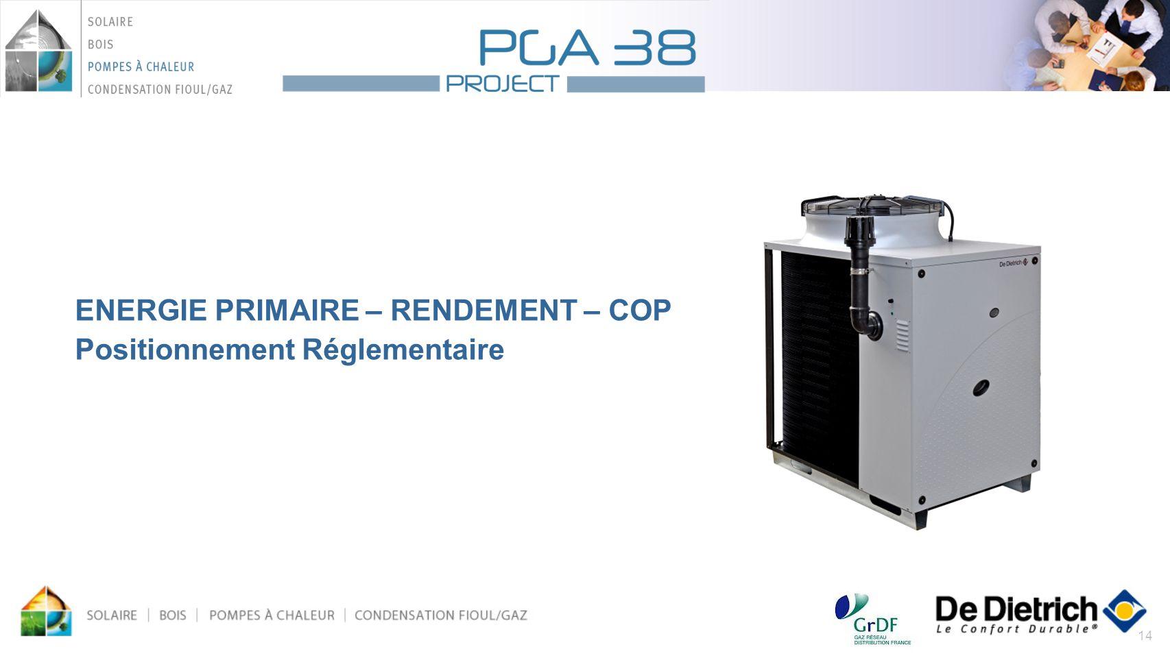 ENERGIE PRIMAIRE – RENDEMENT – COP